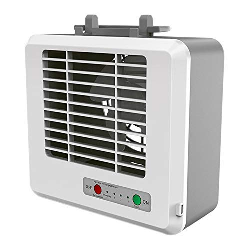 GUONING-L USB Fan, Air Conditioner 3-Speed USB Cooling Fan Silent Fast Cool Fan Home Office Rechargeable Desktop Fan Cooler