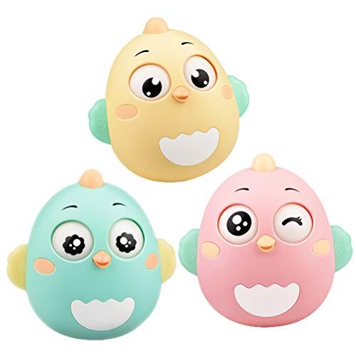 NUOBESTY Stehaufmännchen Stehauffigur Küken Form Kinder Roly-Poly Baby Tumbler Puppe Kinderwagen Spielzeug (Zufällige Farbe)