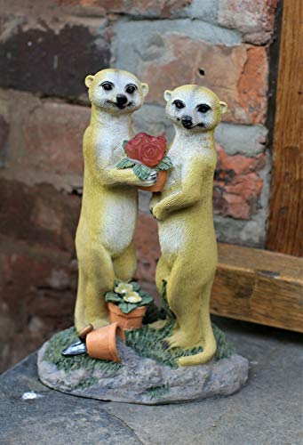 HH Home Hut Garden Ornament Solar Powered Decorative Meerkat Light Up