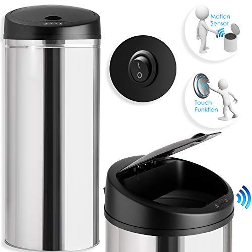 KESSER® Sensor Mülleimer ✓ Automatik ✓ Abfalleimer ✓ Abfall | Edelstahl | Farbe: Silber | Größe: 40 L