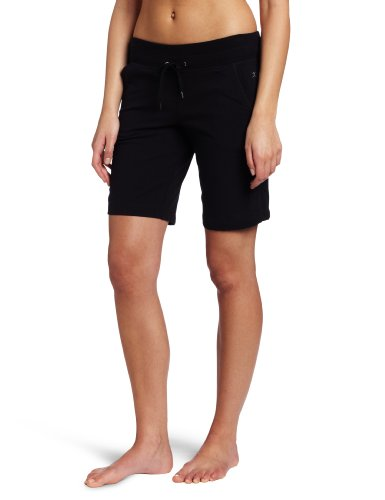 Danskin Women's Essentials Bermuda Short, Black, 2X