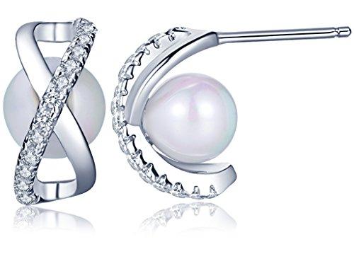 Infinite U - Pendiente de plata 925 con perla...