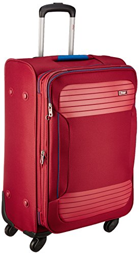 VIP Zane Polyester 56 cms Ruby Red Softsided Cabin Luggage (STZANW59RRD)