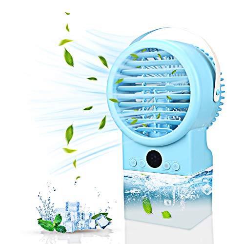 Mobile Klimageräte Klimagerät Luftkühler 3 Kühlstufen Luftkühler Verdunstungskühlung Persönliche Luftkühler Luftbefeuchter Kühlung Klima Klein für zu Hause, Büro, Auto, Hotel, Garage
