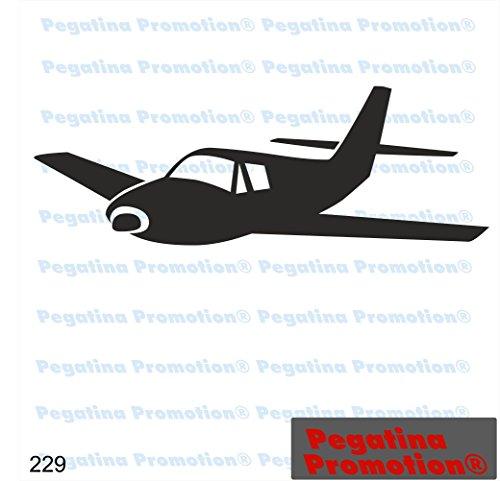 Piktogramm Typ 229 Icon Symbol Zeichen Flieger Flugzeuge Jet Kampfjet Abflug Aufkleber ca.15cm von Pegatina Promotion® Aufkleber mit Verklebehilfe von Pegatina Promotion® ohne Hintergrund geplottet