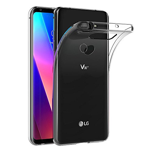 AICEK LG V30 Hülle, Transparent Silikon Schutzhülle für LG V30 Hülle Clear Durchsichtige TPU Bumper LG V30 Handyhülle (6,0 Zoll)