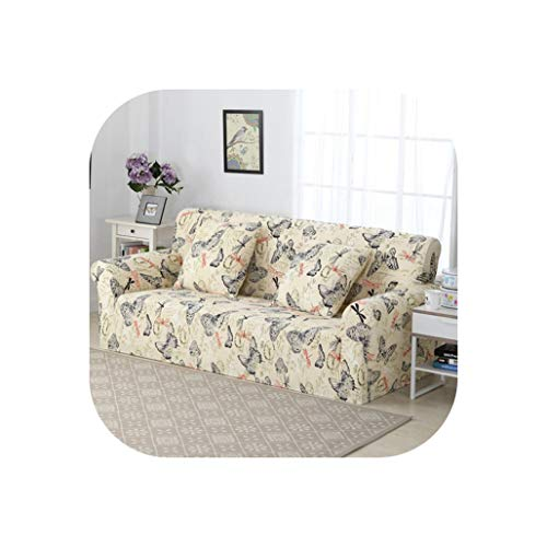 Spandex Elastic Universal Sofa Cover 2 and 3 Seat Slipcover Geometric Protector Stretch Loveseat Armchair Couch Case Living Room,14,Two-Seater