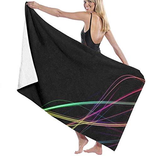 Toallas Líneas de luz de Colores para la Ducha,Toallas de baño, Fitness, Deportes al Aire Libre