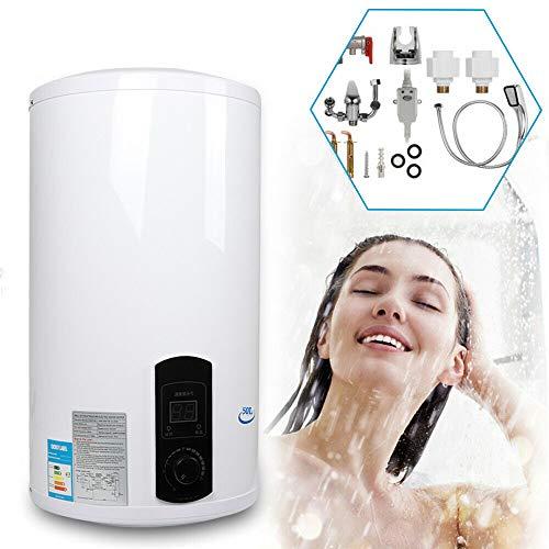 Generic Elektrischer Warmwasserspeicher, 50L 80L 100L 120L LED Display Elektro Warmwasserspeicher Boiler mit Duschset (80L)