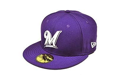 New Era MLB Basic M HAT Milwaukee Brewers Dark Purple Cap