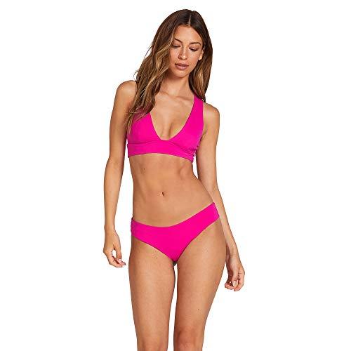 Volcom Simply Seam Cheeky - Bikini da Donna, Donna, Parte Inferiore Bikini, O2111900, Fucsia, M