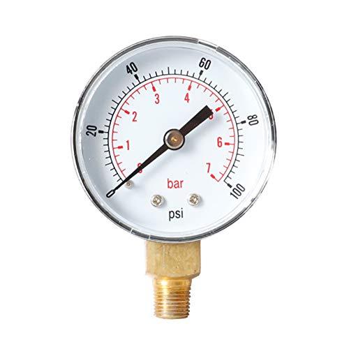WenYOUNG 0-60psi 0-4bar radiale druk gaas oliedruk Gaugefor olie lucht water 1/4BSPT draad 0-100psi 0-7bar Silver2