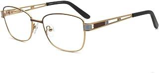 5ae9f38317 FERAVIA femmes élégantes mode grande qualité claire lentille en métal  lunettes