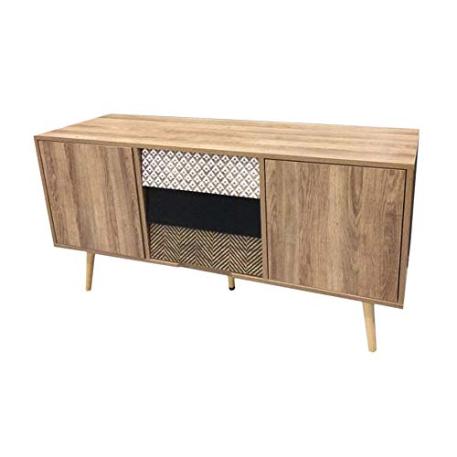 Home Deco Factory TV-Schrank, Holz, Beige, One Size