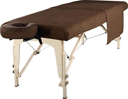 Master Massage liege Flanell Blatt Set 3 in 1 Liegedecke, flache Platte, Gesichts-Kissenbezug Dunkle Schokolade