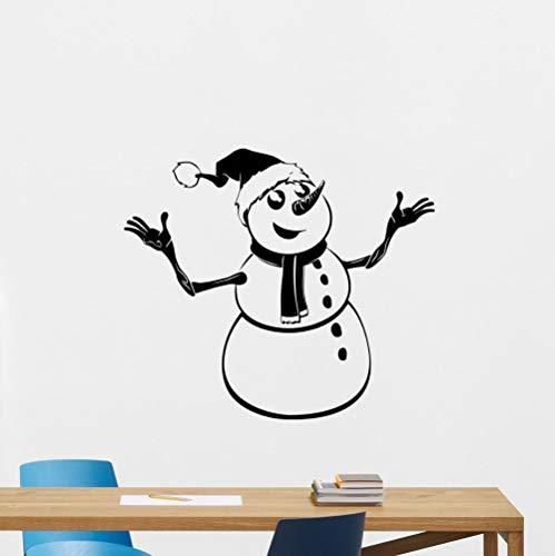 hetingyue sneeuwpop van papier, kerstdecoratie, cadeau voor Nieuwjaar, muurstickers, afneembaar, vinyl, Art Mural Poster
