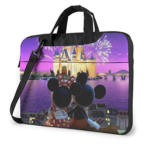 14 Inch Laptop Bag Minnie and Mickey Mouse Laptop Briefcase Shoulder Messenger Bag Case Sleeve