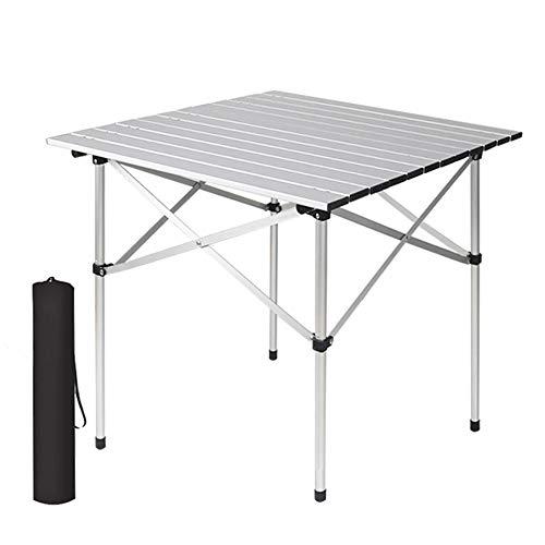 fgf GFRYY Klappbarer Camping-Tisch, Tragbarer Leichter Klappbarer Picknicktisch Aus Aluminium Mit Tragetasche Roll-up-Camp-Tisch Zum Picknick Im Freien/A
