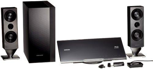 Samsung HT-C 7200 2.1 Blu-Ray Heimkinosystem (Full-HD, DivX, 400 Watt) Ebenholz acryl