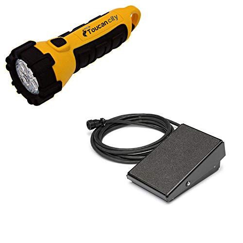 Toucan City LED Flashlight and Lincoln Electric LE31MP TIG Welding Foot Pedal K4361-1