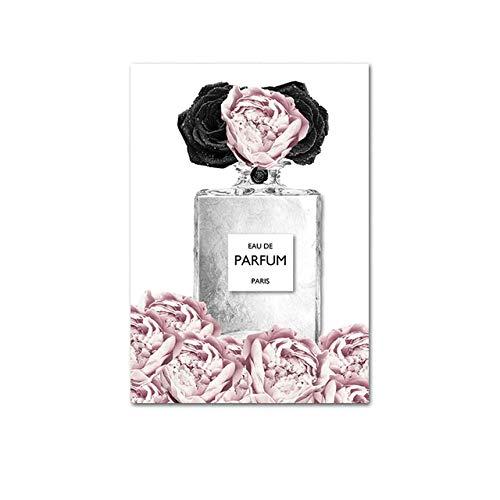 LDTSWES - Póster de estilo nórdico (impresión de perfume, flor lienzo, para decoración de casa, 30 x 40 cm)
