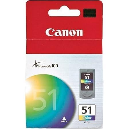 Canon CL-51 Pixma iP6210D 6220D 6310D 6320D MP150 160 170 180 450 460 MX300 310 318 Pixus iP2500 Ink Cartridge (Cyan Magenta Yellow) in Retail Packaging