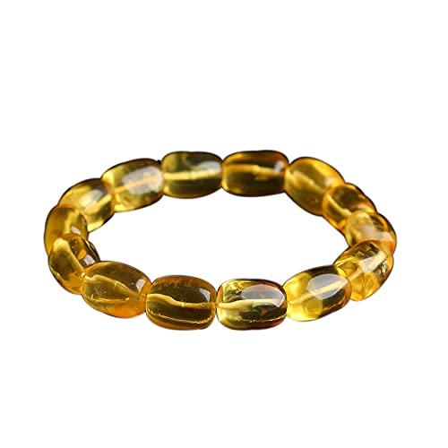 Nuevo producto pura cera de abejas natural cruda, exquisita pulsera de ámbar de cera de abejas, pulsera purificadora de agua ámbar de oro