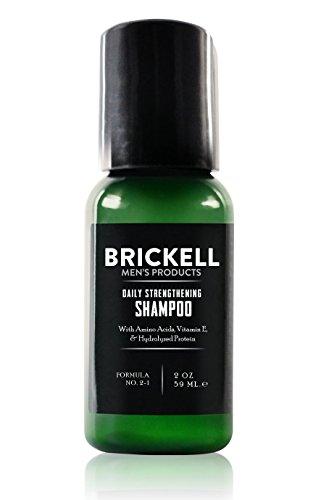 Brickell Men's Versterkende Mannen Shampoo voor Iedere Dag, Natuurlijk en Organisch met Munt en Tea Tree Olie voor de Droge Hoofdhuid, Vrij van Sulfaten en Parabenen, Geurend (2 Ounce)