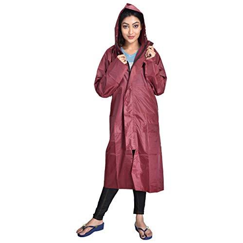 THE DRY CAPE ; LET IT RAIN Maroon xl-46 rain Coat for Women | Men | Ladies | Girl