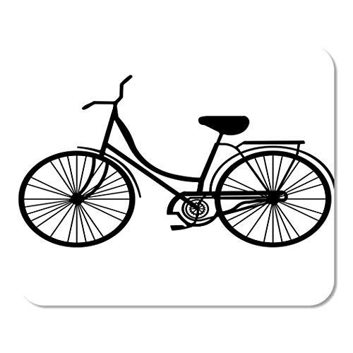 Muismat, notitieblok, kantoor, vintage, fiets, strandfiets, zwart, klassiek, cruiser, cyckle, home, school, game speler