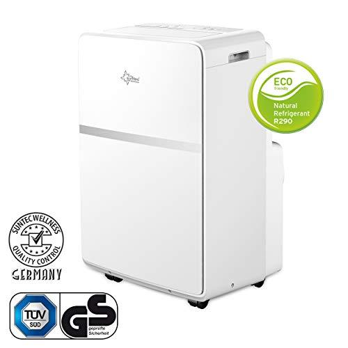 Mobiles lokales Klimagerät Impuls 3.5 Eco R290 | für Räume bis 130 m3 (60 m2) | inkl. Abluftschlauch | Kühler und Entfeuchter mit ökologischem Kühlmittel R290 | 12.000 BTU/h | Suntec Wellness