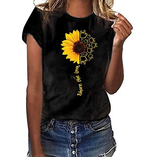 MRULIC 2019 ny t-shirt dam te rund hals kortärmad flicka t-shirt lösa toppar sommartopp kortärmad skjorta dotter till fars dag S-3XL