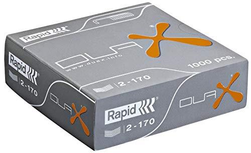 Rapid 21808300 Heftklammern DUAX, verzinkt, 1000 Stück