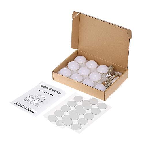 Sunydog Kit di luci per specchietti di cortesia a 10 LED con lampadine dimmerabili Striscia di apparecchi per Il Trucco Tavolo da Trucco di vanità nella Porta USB della Cabina