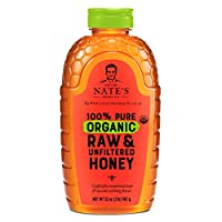 Nature Nate's 100% Pure Organic, Raw & Unfiltered. Squeeze Bottle; Allnatural Sweetener, USDA Certified Organic, No Additives, Honey, 32 Oz by North Dallas Honey Company LP