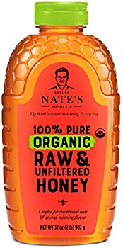 Nature Nate's 100% Pure Organic Raw & Unfiltered Honey 32 Oz