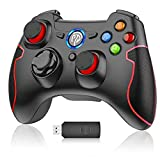 PS3 Controller, EasySMX 2.4G wireless Gamepad, gaming Joystick für PS3/ PC (Windows XP/ 7/8/ 8.1/ 10)/ Steam, Android TV Box