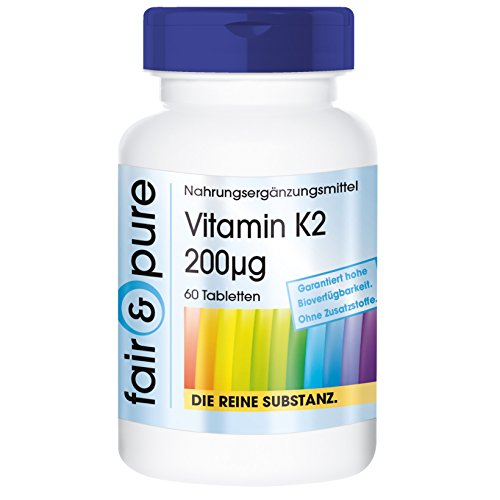 Vitamina K2 200µg - Menaquinone MK7 - Vegan - 60 Compresse
