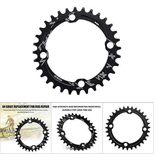 Jacksking Piezas de reparación Anillo de Cadena de Bicicleta de montaña Anillo de Cadena de manivela única de Acero Anillo de(Black, 32T)