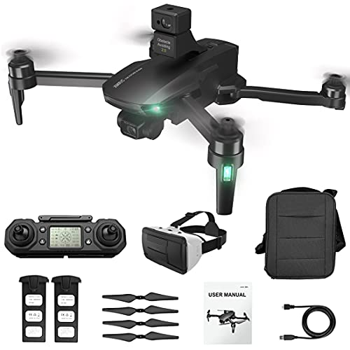 LICI M9 Collassabile RC Drone 4K HD,5G WiFi GPS,Evitamento Ostacoli Automatico,Gimbal EIS 3 Assi,Senza Spazzole,25 Minuti di Volo,con 3D Display per Realtà Virtuale Montato sulla Testa e Valigetta