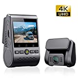 VIOFO A129 Pro Duo 4K Dual Dash Cam 3840 x 2160P Ultra HD 4K Front and 1080P Rear Car WiFi...