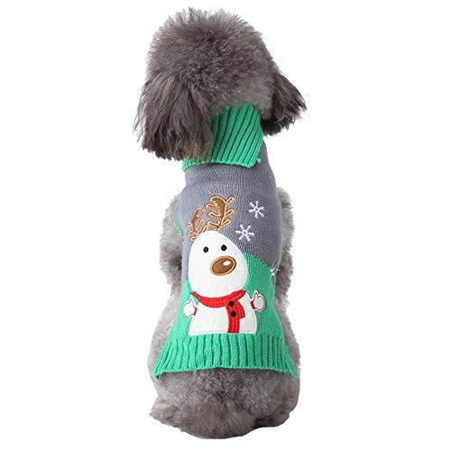 LSXX Vestiti di Natale per Cani Vestiti di Halloween per Cani Vestiti di Halloween per Animali Vestiti Invernali per Animali Maglione Caldo per Cani Adatto a Cani di Piccola e Media Taglia,XXL