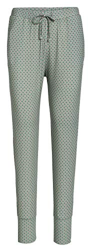 PiP Studio Damen Bobien Schlafhose Pyjamahose Lange Hose grün rosa Gemustert Taschen, Grösse:L, Farbe:Mehrfarbig
