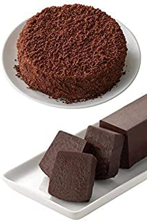 LeTAO(ルタオ) チョコレートケーキ ベストセラー ショコラセット (ショコラドゥーブル + サンサシオンハーフ 、各一個入り)