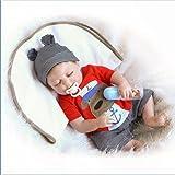 YANRU Cuerpo Completo De Silicona Reborn, 22 Pulgadas NiñO Renacido, Juguete De SimulacióN para ReciéN Nacidos MuñEca ReciéN Nacida - Set De Regalo para NiñOs