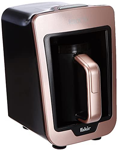 Fakir Kaave – turecki ekspres do kawy z 4 filiżankami i tradycyjną drewnianą łyżką pomiarową I prosty system One-Touch Control I 735 W I różowy