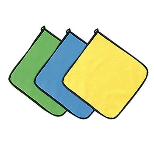 CHSG 3 Pcs Microfibra Gruesas De Felpa Bayetas, Secado Absorbente Y Suave - Bayetas De Pulido Sin Pelusas para El Cuidado, Cocina, Bayeta De Limpieza PañOs Toalla para Coche Moto Bici (30 * 30cm)