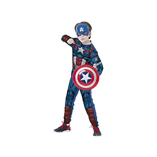 Regina Regina 109014.3, Fantasia Avengers Capitão América Escudo Clássico Longa G 10/12, Multicor