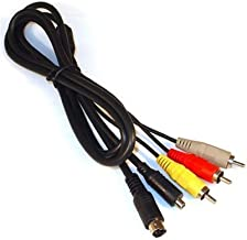 MPF Products VMC-15FS VMC15FS AV A/V Audio Video RCA S-Video Cable Cord Replacement Compatible with Select Sony Handycam Camcorder Models (Compatible Models Listed Below)