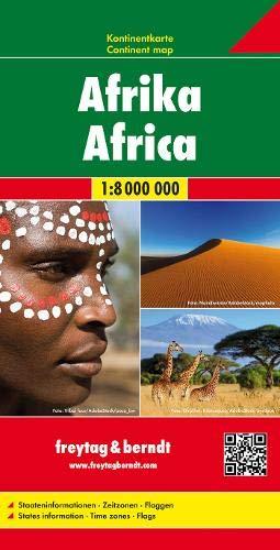 Afrika, Kontinentkarte 1:8 Mio. (freytag & berndt Auto + Freizeitkarten)